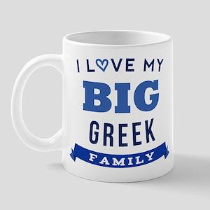 I Love My Big Greek Family Mug