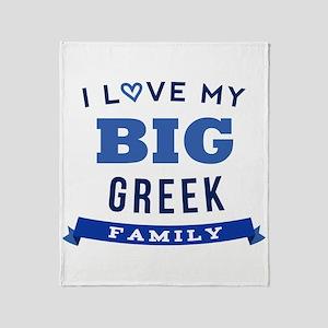 I Love My Big Greek Family Throw Blanket