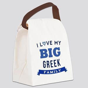 I Love My Big Greek Family Canvas Lunch Bag