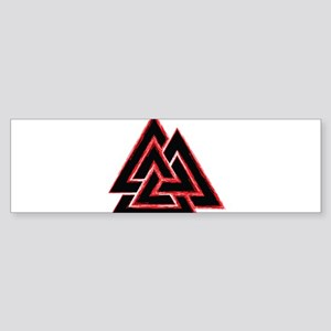 Valknut (red) Sticker (Bumper)