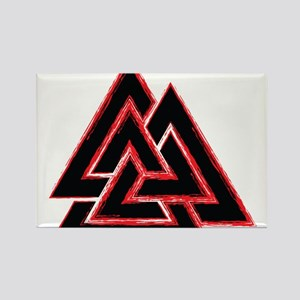 Valknut (red) Rectangle Magnet