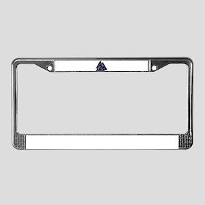 Valknut (blue) License Plate Frame