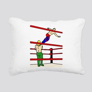 Wrestling Body Slam Rectangular Canvas Pillow