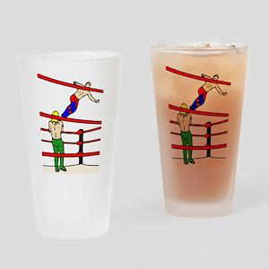 Wrestling Body Slam Drinking Glass