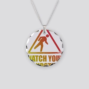 Watch Your Dubstep Necklace Circle Charm
