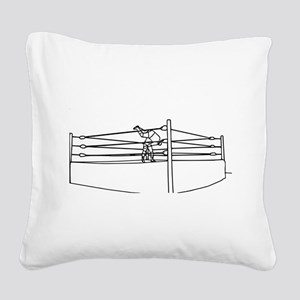 Pro Wrestling Ring Square Canvas Pillow