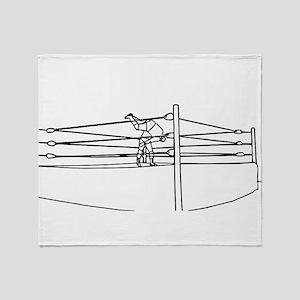 Pro Wrestling Ring Throw Blanket
