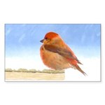Scarlet Tanager Sticker (Rectangle 10 pk)