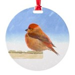 Scarlet Tanager Round Ornament