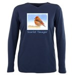 Scarlet Tanager Plus Size Long Sleeve Tee