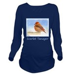 Scarlet Tanager Long Sleeve Maternity T-Shirt