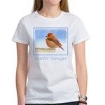 Scarlet Tanager Women's Classic White T-Shirt