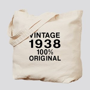 Vintage 1938 Birthday Designs Tote Bag