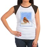 Scarlet Tanager Junior's Cap Sleeve T-Shirt