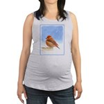 Scarlet Tanager Maternity Tank Top