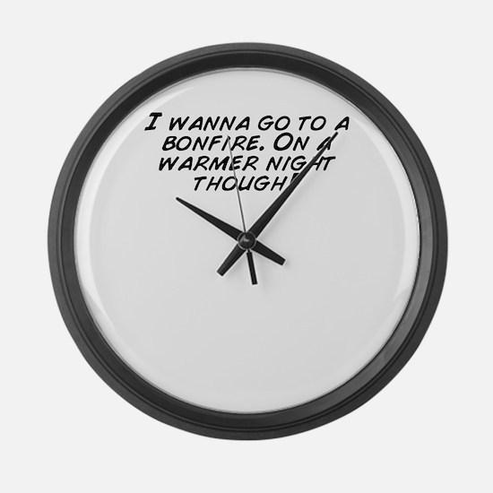 Cute Bonfire night Large Wall Clock
