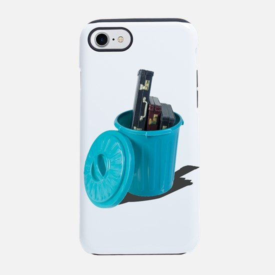 Briefcases in a garbage can iPhone 7 Tough Case