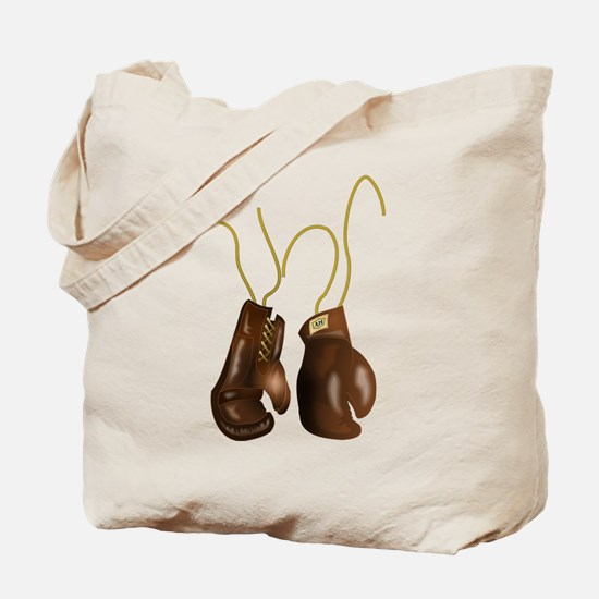 Leather Boxing Gloves Tote Bag
