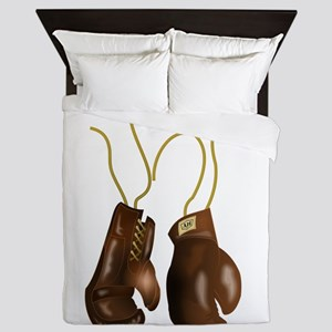 Leather Boxing Gloves Queen Duvet