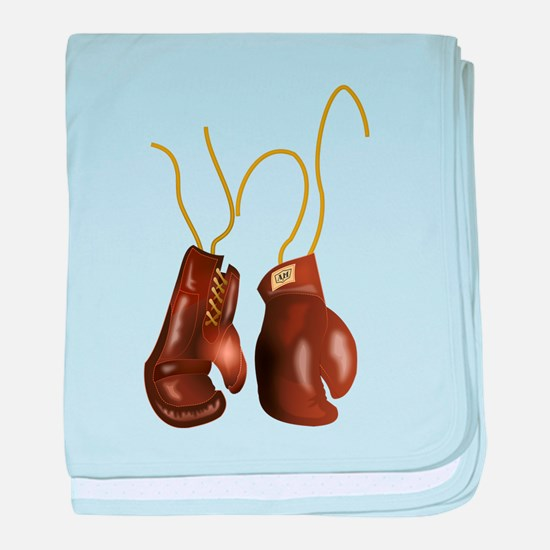 Leather Boxing Gloves baby blanket