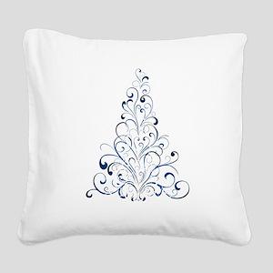 Christmas Tree Square Canvas Pillow