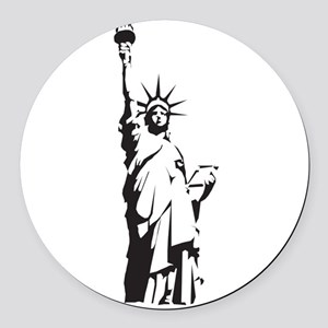 Statue of Liberty Round Car Magnet