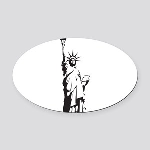 Statue of Liberty Oval Car Magnet