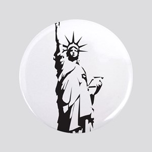 """Statue of Liberty 3.5"""" Button"""