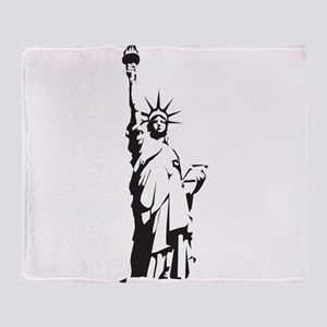 Statue of Liberty Throw Blanket