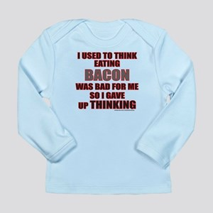 EATING BACON Long Sleeve Infant T-Shirt