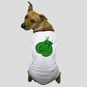 Green Boxing Gloves Dog T-Shirt