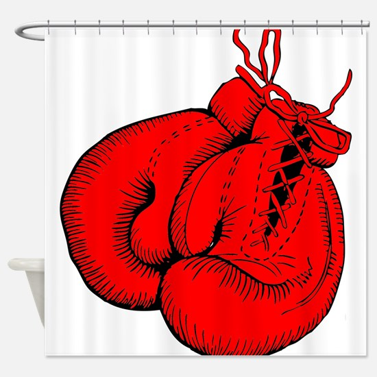 Red Boxing Gloves Shower Curtain