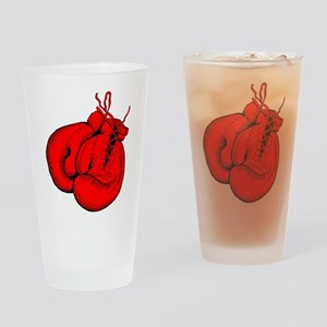 Red Boxing Gloves Drinking Glass