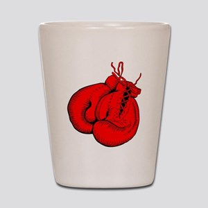Red Boxing Gloves Shot Glass