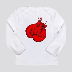 Red Boxing Gloves Long Sleeve Infant T-Shirt