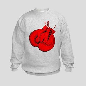 Red Boxing Gloves Kids Sweatshirt