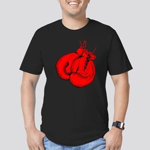 Red Boxing Gloves Men's Fitted T-Shirt (dark)