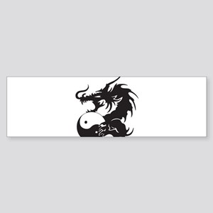 Yin Yang Dragon Sticker (Bumper)