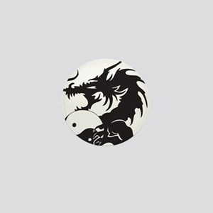 Yin Yang Dragon Mini Button