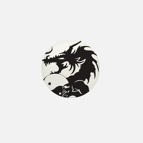 Yin Yang Dragon Mini Button