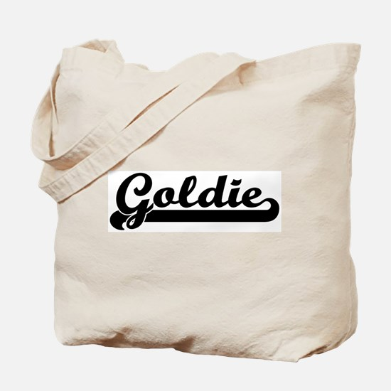 Black jersey: Goldie Tote Bag
