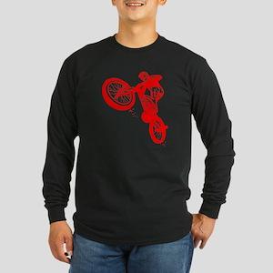 Red Dirt Biker Long Sleeve Dark T-Shirt