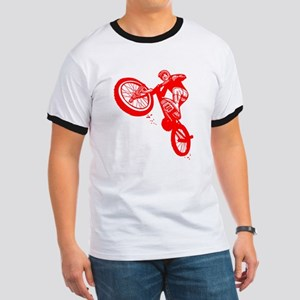 Red Dirt Biker Ringer T
