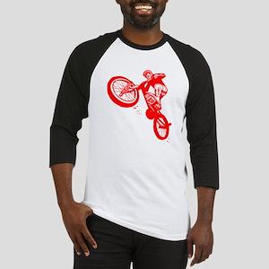 Red Dirt Biker Baseball Jersey