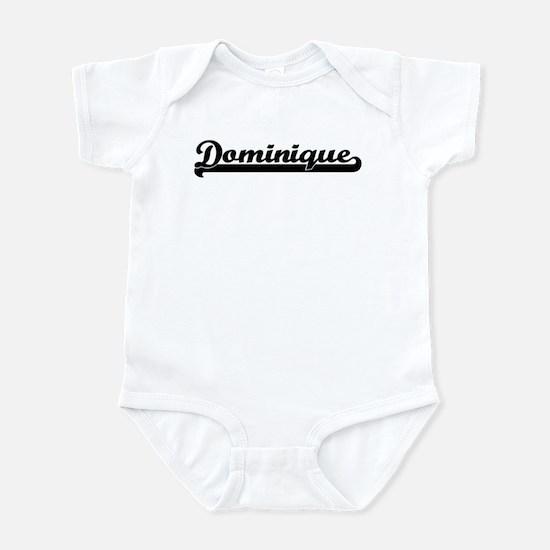 Black jersey: Dominique Infant Bodysuit