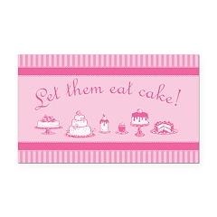 Sweet Pink Let Them Eat Cake Rectangle Car Magnet