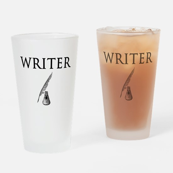 Writer Drinking Glass
