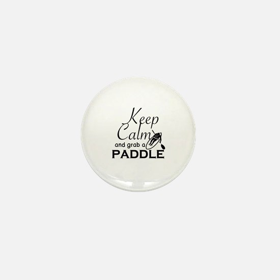 Cute Keep calm and paddle on Mini Button