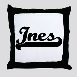 Black jersey: Ines Throw Pillow