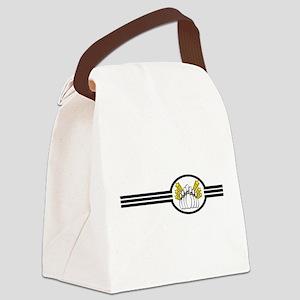 Bowling Pins Stripes Canvas Lunch Bag